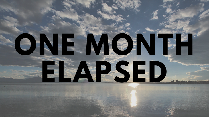 One month elapsed
